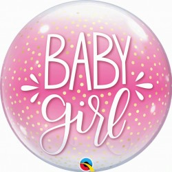 "Ballon Bubble confetti7 baby girl 22"" (56 cm)"