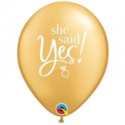 """5 Ballons Elle a dit oui 11"""" (28cm)"""