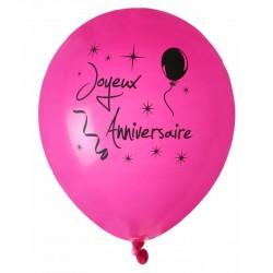 Ballon fuchsia x8