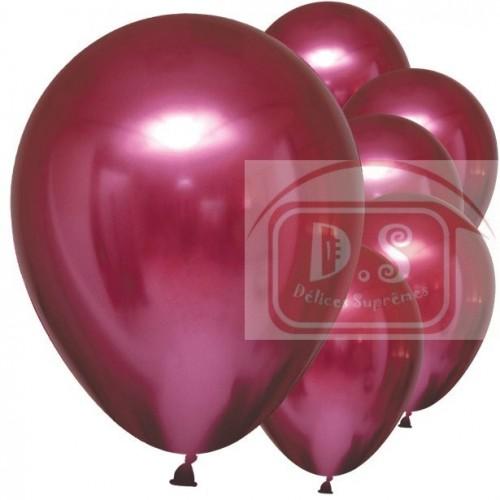 Ballons satin luxe - grenade 6pcs