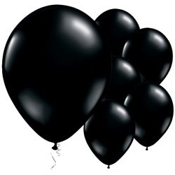 "25 ballons noirs onyx 11"" (28 cm)"