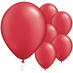"""5 Ballons Nacrés Rouge Ruby 11""""- 28 cm"""