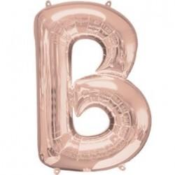 Ballon Rose Or lettre B
