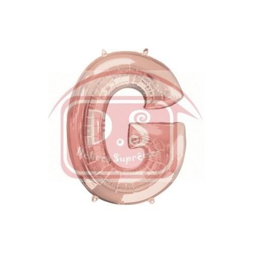 Ballon Rose Or lettre G