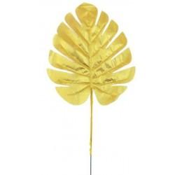 10 Feuilles dorées décoration 17 cm