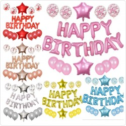 Kit ballons Happy birthday- Étoile