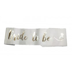 Écharpe bride to be en satin