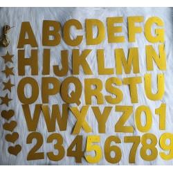 Bannière pailleté dorée personnalisée symbole-chiffre-lettre