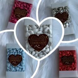 Dragées cœur au chocolat 250g
