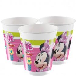 8 Gobelets en carton 20 cl Minnie