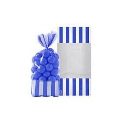 10 sachets rayés Bleu marine 27 cm