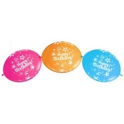 """Ballon à lien rapide-Happy Birthday 12 (50 pièces)"""""""