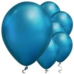 Ballon Chrome Bleu 28cm