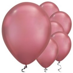 Ballon Chrome Rose 28cm