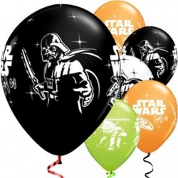 "Ballons latex STARS WARS 12"" paquet de 6"