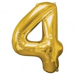 Ballon couleur Or chiffre 4