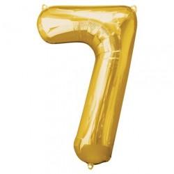 Ballon couleur Or chiffre 7