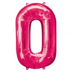 Ballon Rose chiffre 0