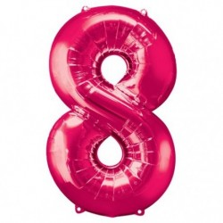 Ballon Rose chiffre 8